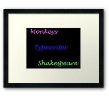 Monkeys Typewriters Shakespeare Framed Print