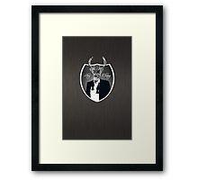 Deer in tuxedo Framed Print