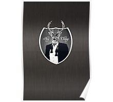 Deer in tuxedo Poster
