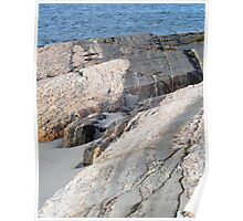Rock Outcropping at the Sea Shore - Odiorne Point State Park - Rye, NH 04-28-12 Poster