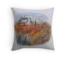 Ontario Farm in Autumn Throw Pillow