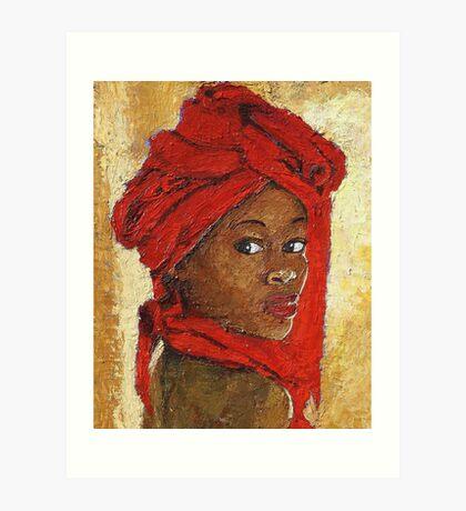 Black Lady No. 12 Art Print