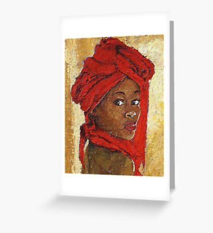 Black Lady No. 12 Greeting Card