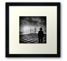 Of matchstick men and you Framed Print