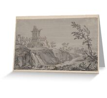 Robert Adam Imaginary Landscape with Classical Ruins and a Palladian Villa in the Distance Greeting Card