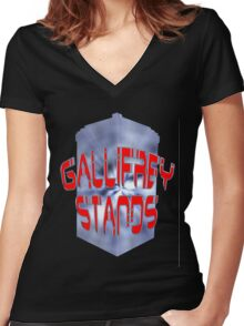 Gallifrey Stands 2 Women's Fitted V-Neck T-Shirt