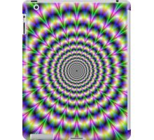 Psychedelic Pulse in Green Blue and Pink iPad Case/Skin