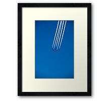 Red Arrows on display Framed Print