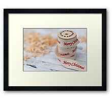 Merry Christmas Ribbon and Reel Framed Print