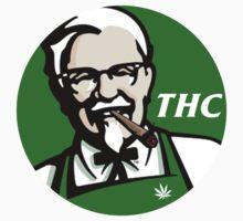 Finger stickin bud (THC) KFC logo by Reece Kane