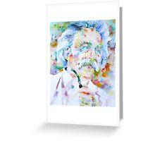 MARK TWAIN - watercolor portrait Greeting Card
