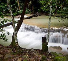 Trail by falls by Kenji Ashman