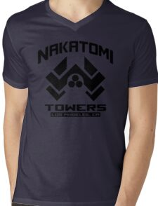 Nakatomi Towers Los Angeles CA T-Shirt Funny Cool Mens V-Neck T-Shirt