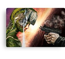 Nature's worst enemy Canvas Print