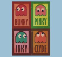 Blinky, Inky, Pinky and Clyde Kids Clothes