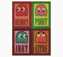 Blinky, Inky, Pinky and Clyde Kids Tee