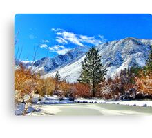 Fall At The Pond Canvas Print