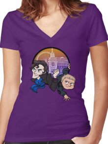 Sherlock! Women's Fitted V-Neck T-Shirt