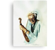 The Master and his Violin Canvas Print