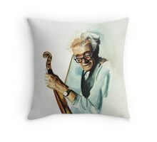 The Master and his Violin Throw Pillow