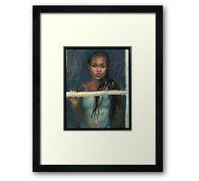 Black Girl at a Window Framed Print
