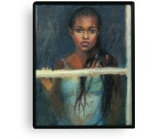 Black Girl at a Window Canvas Print