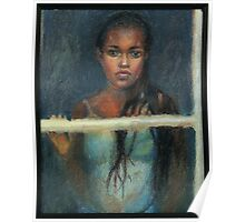Black Girl at a Window Poster