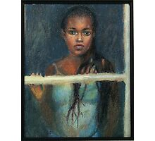 Black Girl at a Window Photographic Print