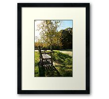 Bench Sunset Framed Print