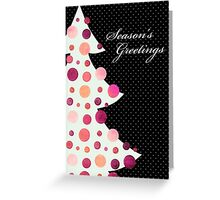Season's Greetings - Retro Christmas Tree - Christmas Card Greeting Card