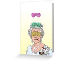 Cool Down - Queen Elizabeth II Greeting Card