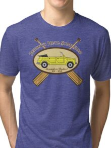 Johnny's Moto Surf Shop Tri-blend T-Shirt