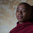 Novice monk at Shinbinthalyaung Temple by Mark Prior