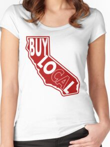 Buy Local Ca Women's Fitted Scoop T-Shirt