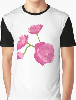 Pink Camelia Graphic T-Shirt
