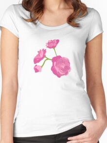Pink Camelia Women's Fitted Scoop T-Shirt