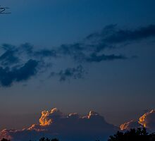 Merrill Park Sunset After a Storm - Concord, NH 06-29-13 by David Lipsy