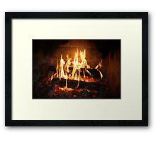 Fire, Open Wood. Framed Print
