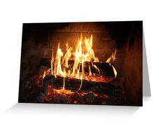 Fire, Open Wood. Greeting Card