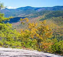 Color in the valley - View from Mt. Welch - Camden, NH 09-29-13 by David Lipsy