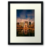 Pool of Reflection... Framed Print