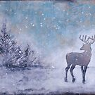 Winter Stag by Anna Davies
