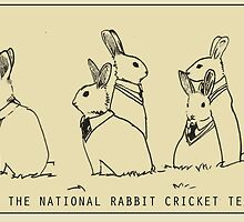 The National Rabbit Cricket Team by gardenofart
