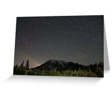 Mt. Rainier at Night  Greeting Card