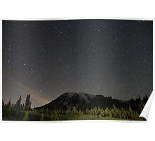 Mt. Rainier at Night  Poster