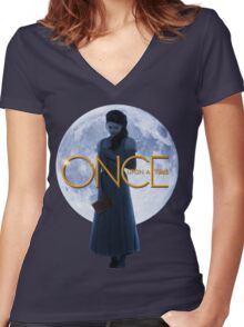 Belle - Once Upon a Time Women's Fitted V-Neck T-Shirt