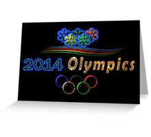Sochi Olympic Logo in black Greeting Card