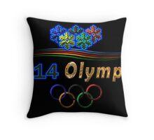 Sochi Olympic Logo in black Throw Pillow