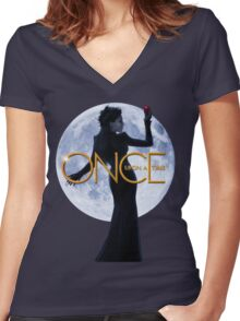 The Evil Queen/Regina Mills - Once Upon a Time Women's Fitted V-Neck T-Shirt