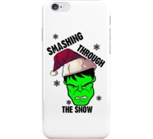 Smashing Through The Snow!(green and black) iPhone Case/Skin